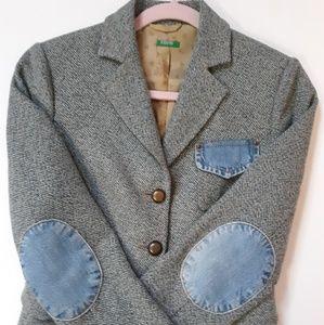 Vintage Benetton Italian Wool Blend Blazer Size 4